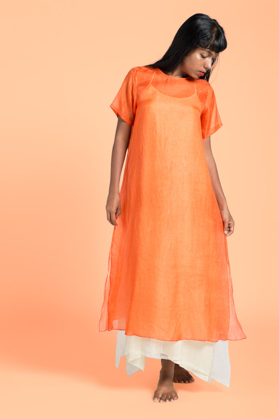 Stephany Dress w/ Layered Slip - Republic of Mode