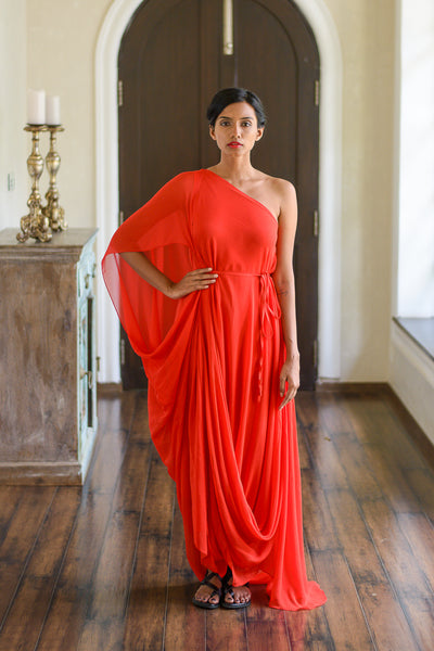 Stephany Draped One-Shoulder Dress - Republic of Mode