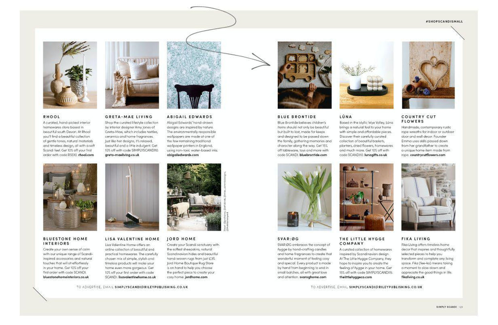 blue brontide features in Simply Scandi Magazine