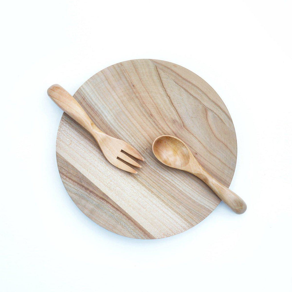 Natural Wood Spoon/Fork Set