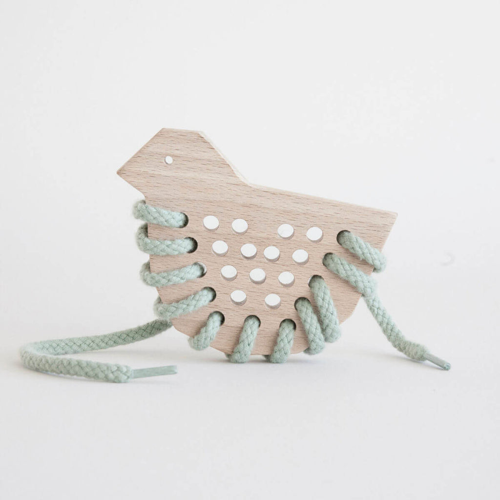 wooden lacing toy duck