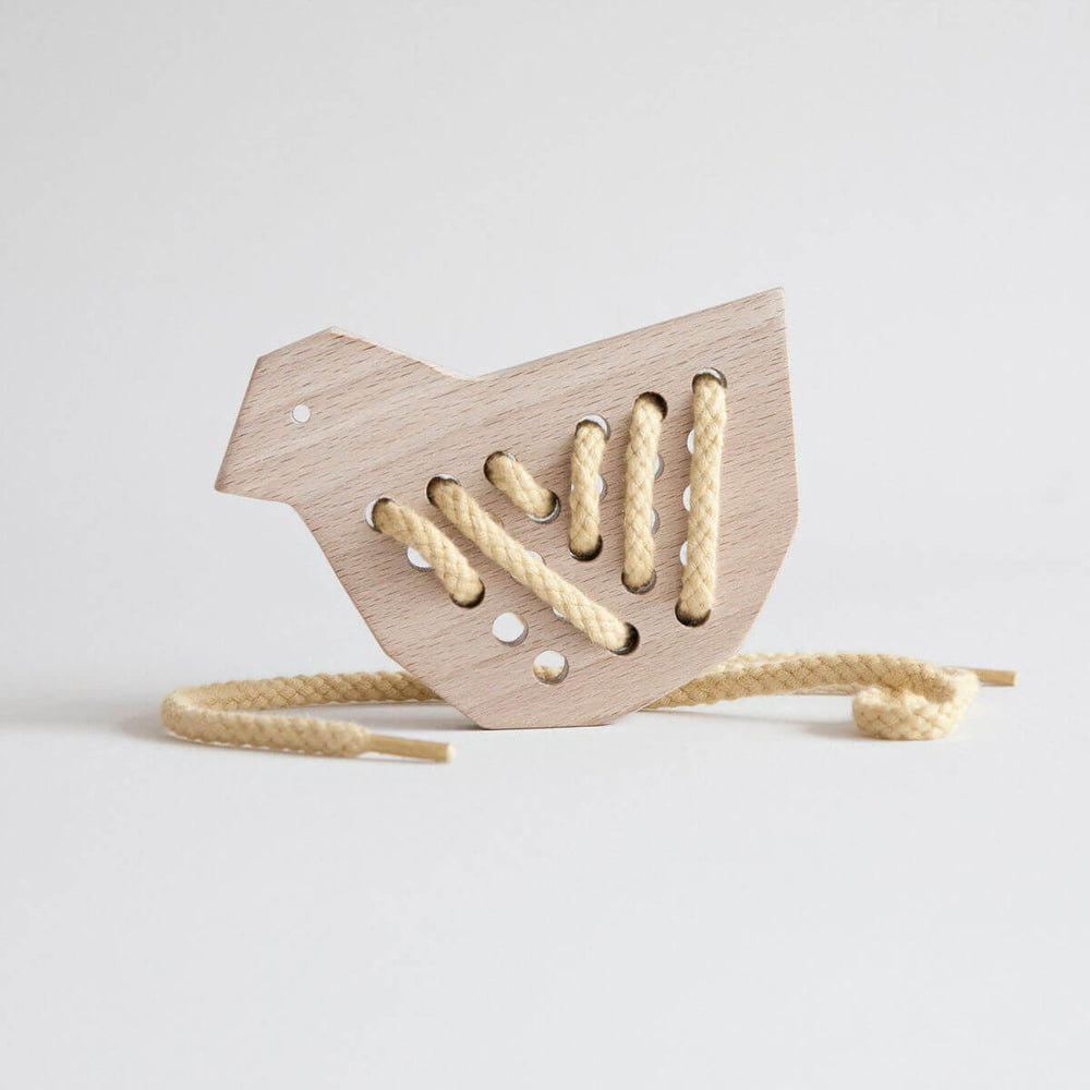 Wooden Lacing Toy - Duck