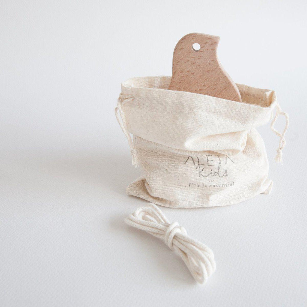 Eco Natural Wooden Baby Teether | Soother - Duck - Bluebrontide