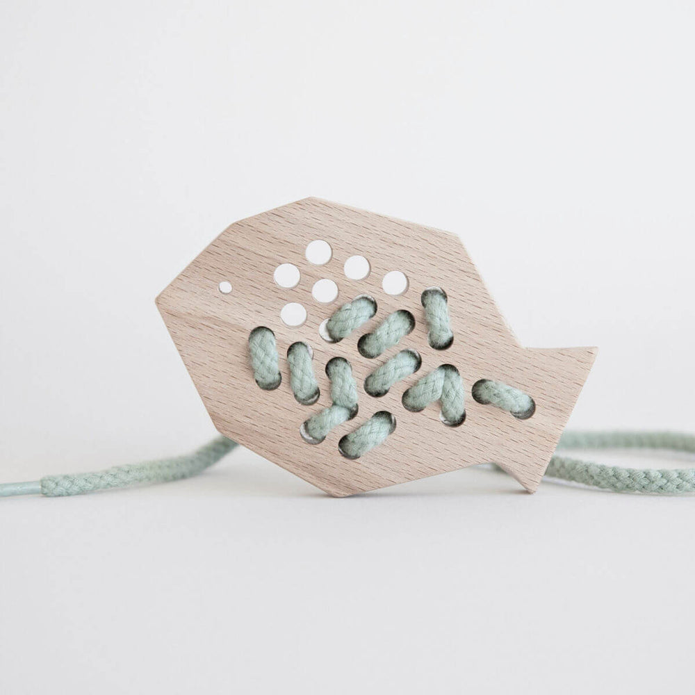 Wooden Lacing Toy - Fish