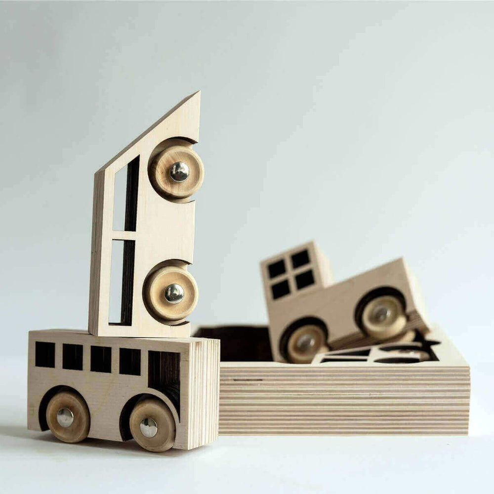 Kolekto - Sustainable Wooden Toy Cars - Blue Brontide