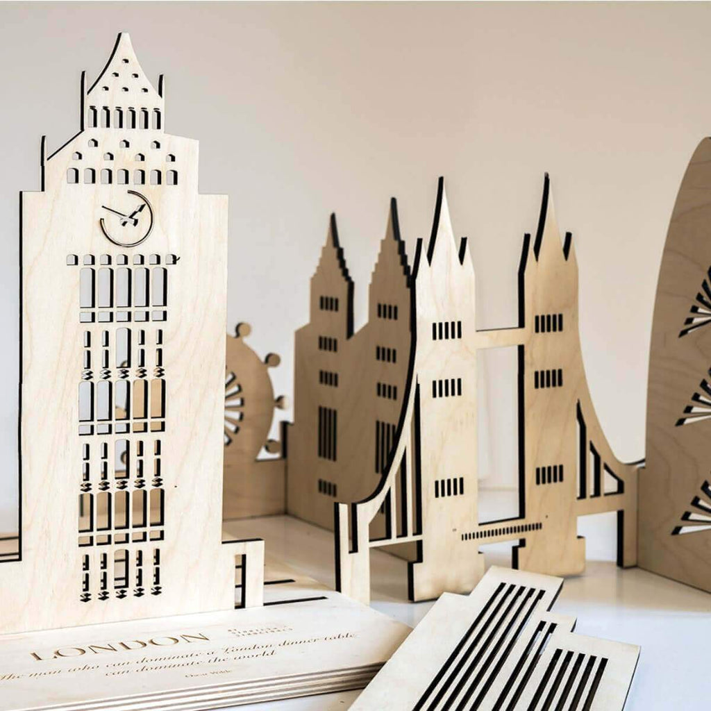 Architectural wooden toys - London buildings