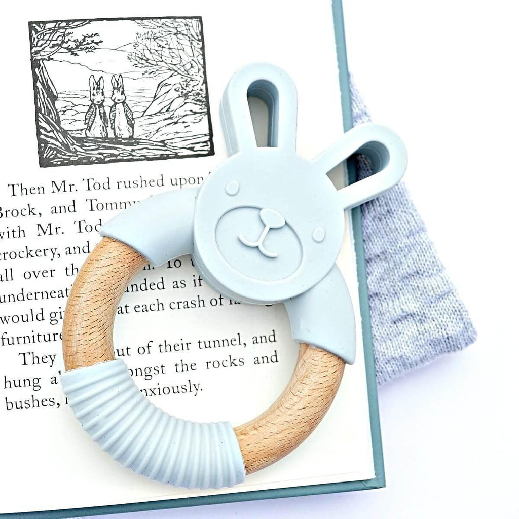 Wood_Silicone_Baby_Teether_Toy_Goose_Grey_Bunny