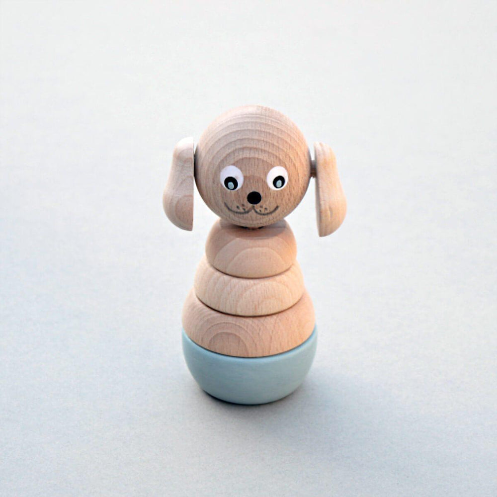 Wooden Dog Stacking Toy - Duck Egg