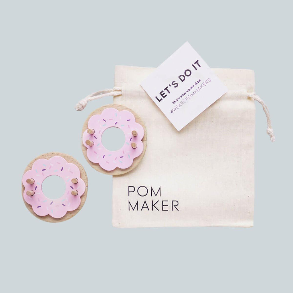 Donut Pom Pom Maker - Strawberry