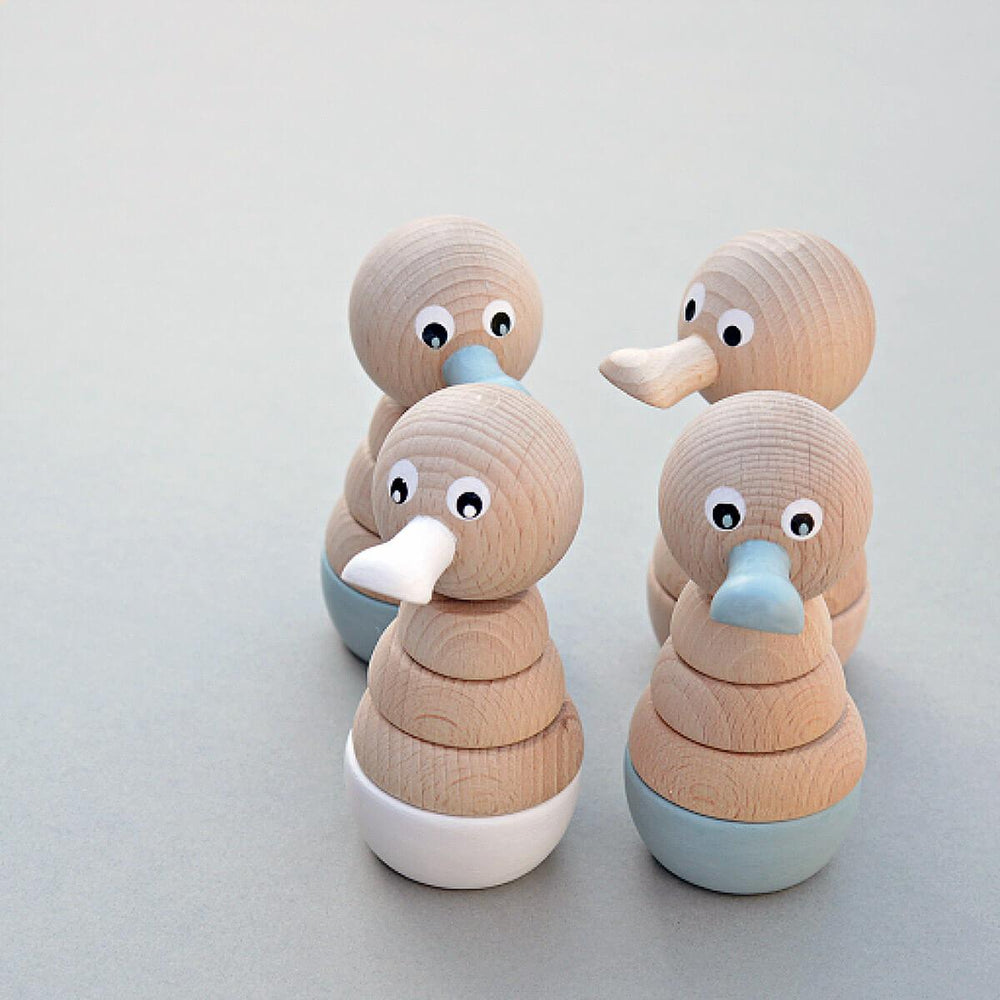 Wooden Duck Stacking Toy - White