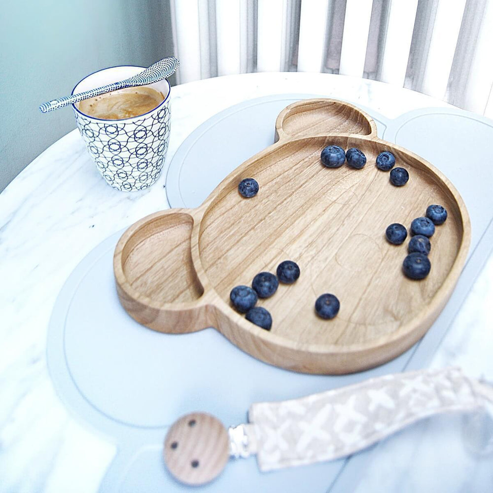 Baby | Kids Eco Wooden Bear Plate - bluebrontide