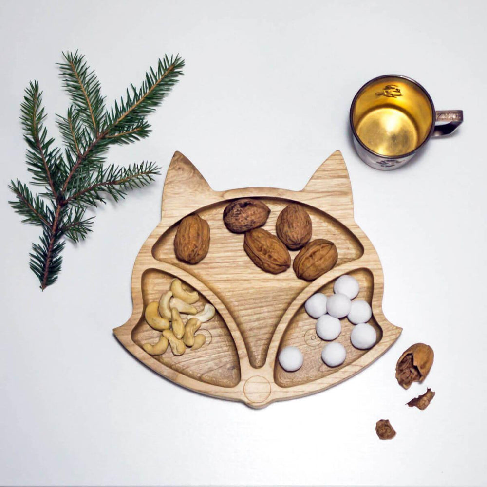 Eco Wooden Fox Plate