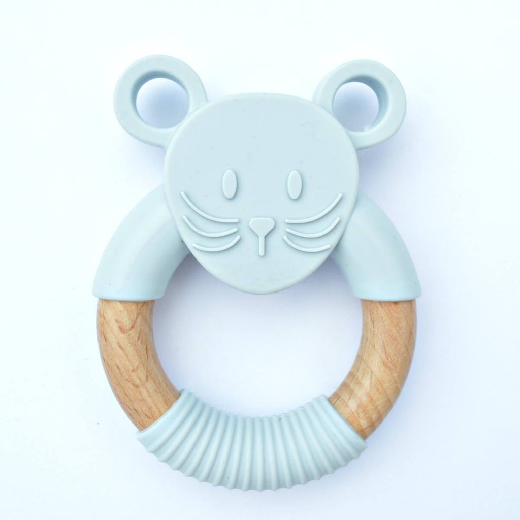 Wood_Silicone_Baby_Teether_Toy_Goose_Grey_Mouse