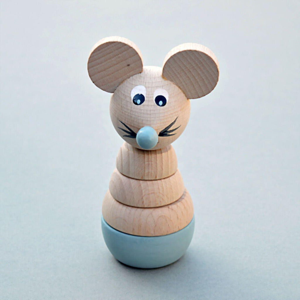 Wooden Mouse Stacking Toy - Duck Egg