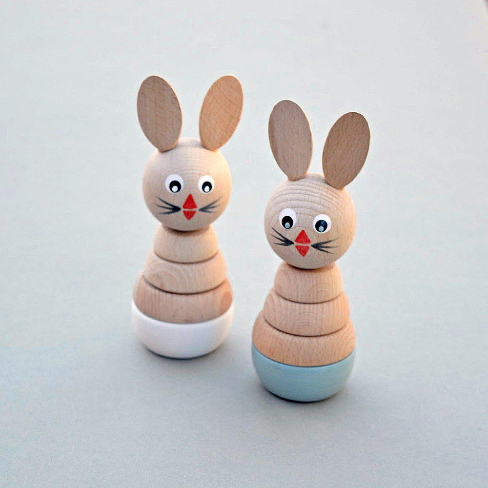 Wooden Rabbit Stacking Toy - Duck Egg