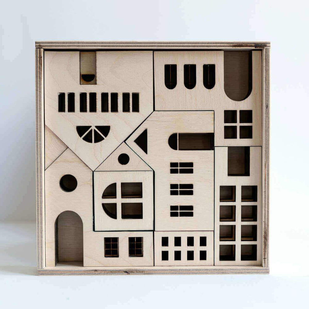 Wooden Architectural Building blocks & puzzle - Copenhagen