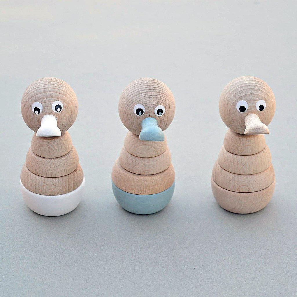 Wooden Duck Stacking Toy - Duck Egg