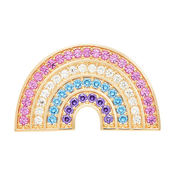 Gold Rainbow Brooch