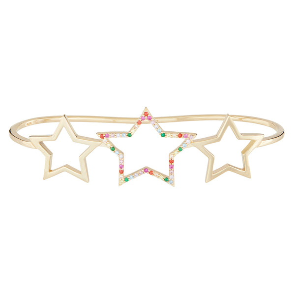 Gold Rainbow Star Hand Cuff