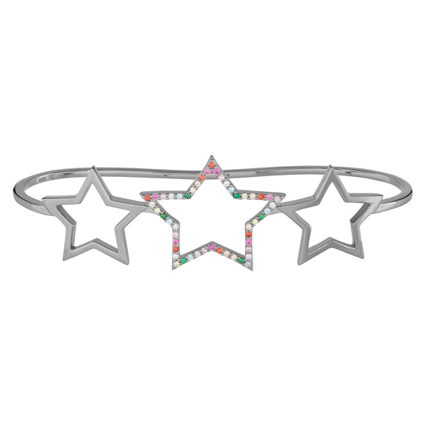 Black Rhodium Rainbow Star Hand Cuff