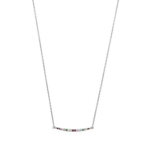 Silver Rainbow Curve Necklace