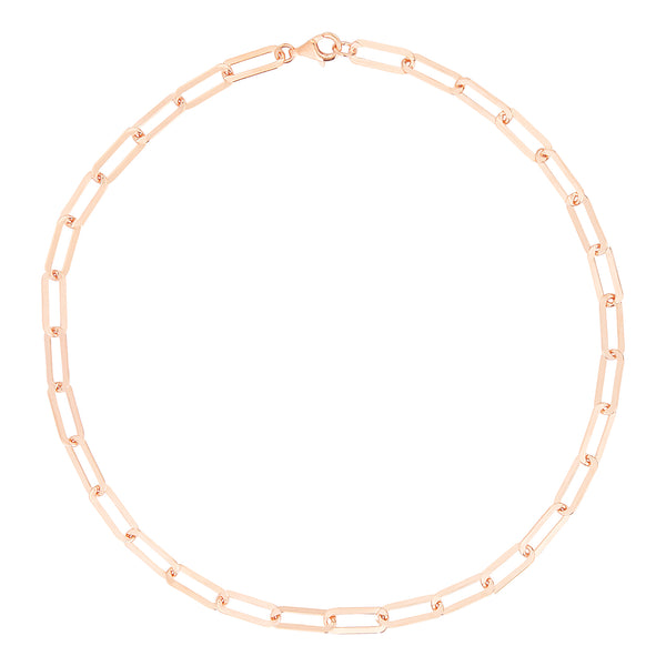 Rose Gold Short Chain Necklace