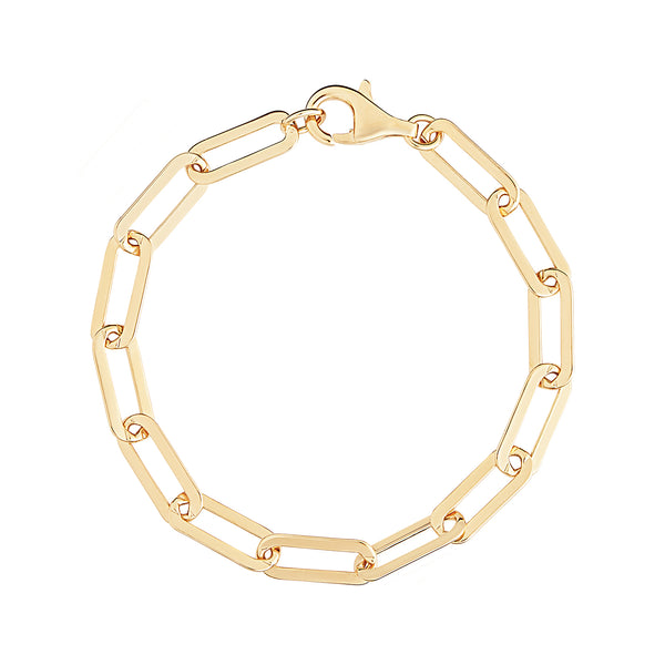 Gold Large Link Chain Bracelet