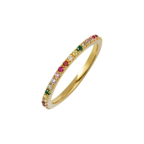 Gold Rainbow Stacking Ring