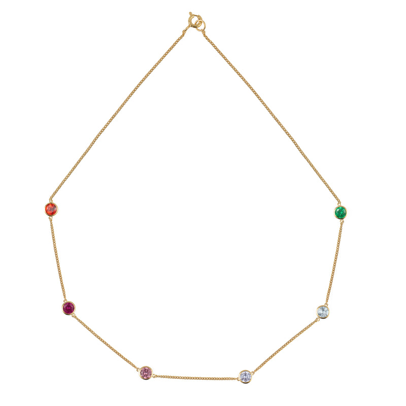 Gold Rainbow Tight Chain Necklace