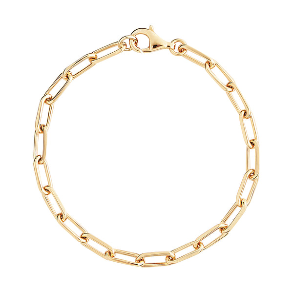 Gold Small Link Chain Bracelet
