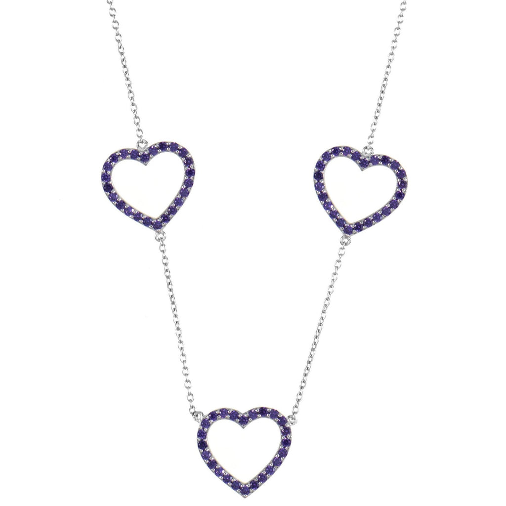 gottlieb purple stephanie necklace img stone colored fine heart products jewelry