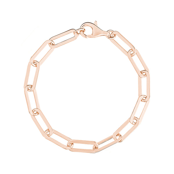 Rose Gold Large Link Chain Bracelet