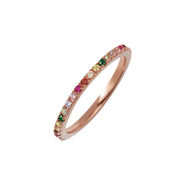 Rose Gold Rainbow Stacking Ring