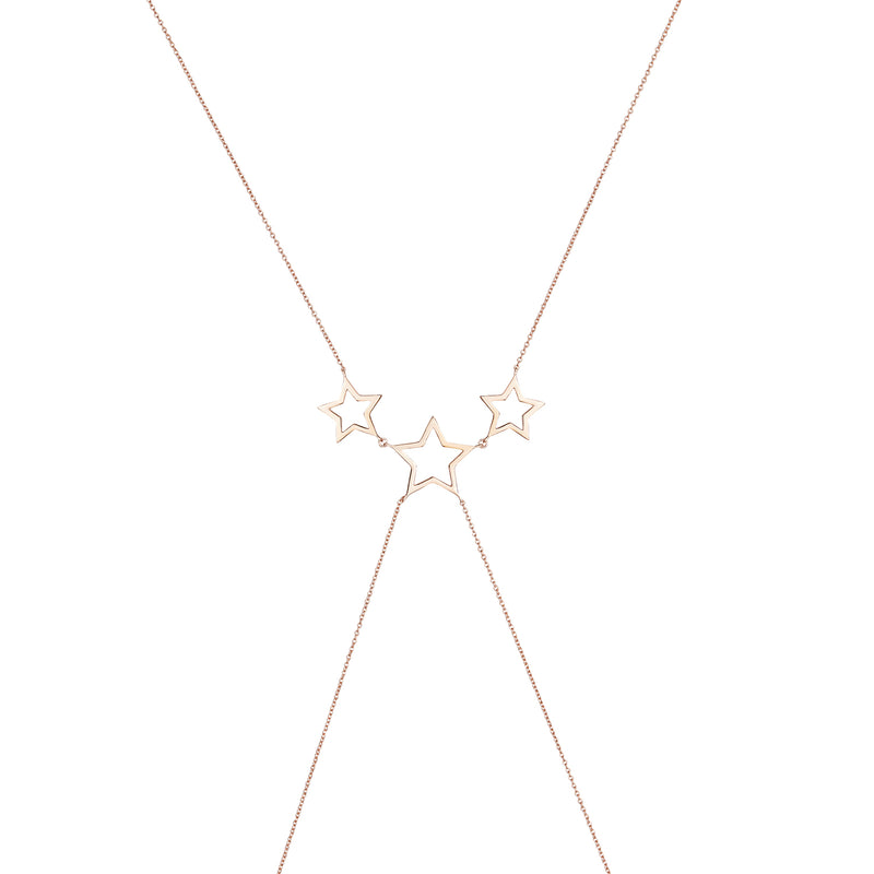 Rose Gold Star Body Chain