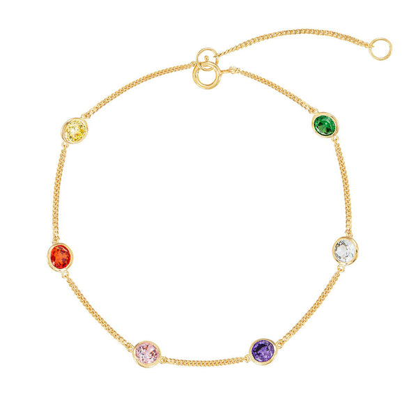 Spread a Smile Charity Rainbow Bracelet