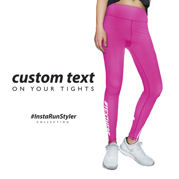 Custom Tights | #InstaRunStyler | Hot Pink - RunStyler - 2