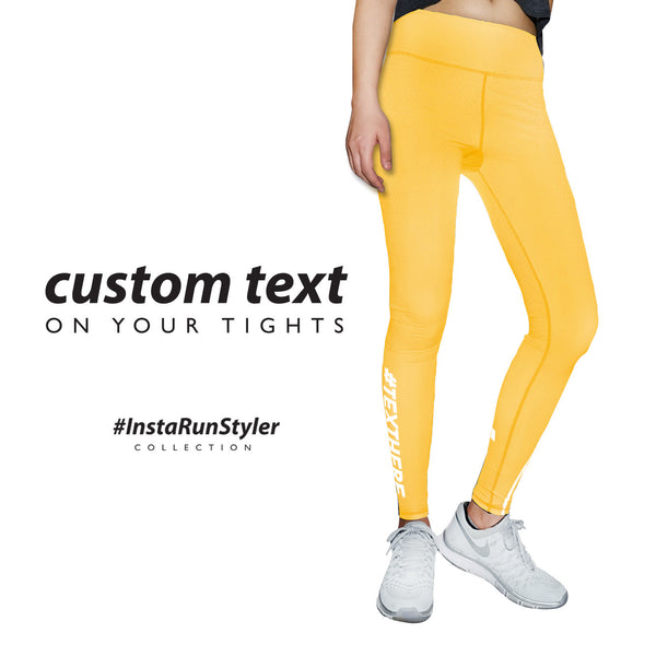 Custom Tights | #InstaRunStyler | Sun Flower - RunStyler - 2