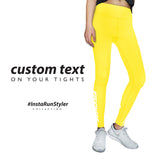 Custom Tights | #InstaRunStyler | Yellow - RunStyler - 2