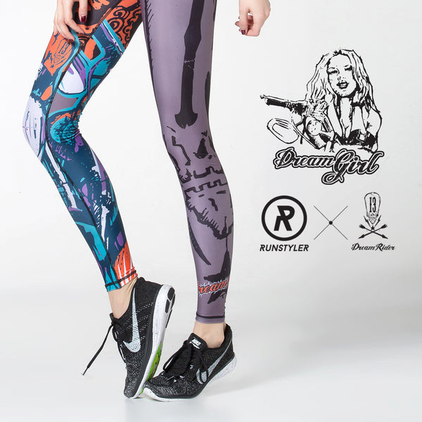 Custom Tights  | 13 Dream Rider | Dream Girl | Orange - RunStyler - 5