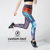 Custom Tights  | 13 Dream Rider | Dream Girl | Orange - RunStyler - 2