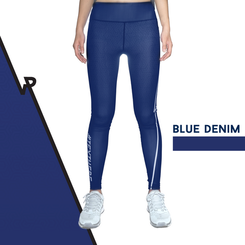 Custom Tights | #InstaRunStyler | Blue Denim - RunStyler - 1