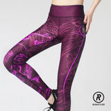 Custom Tights | Artist Series | 13Dream Rider - Wolf Totem | Maroon - RunStyler - 4