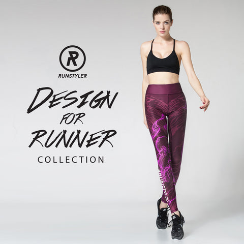 Custom Tights | Artist Series | 13Dream Rider - Wolf Totem | Maroon - RunStyler - 1