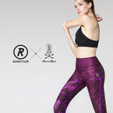 Custom Tights | Artist Series | 13Dream Rider - Wolf Totem | Maroon - RunStyler - 2