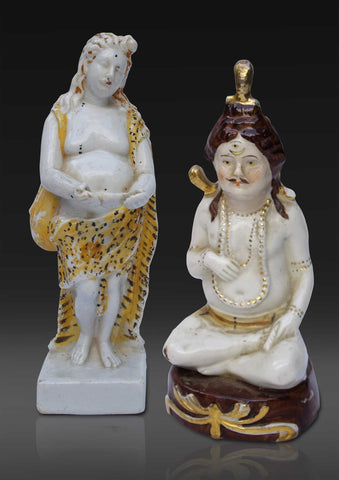 Two porcelain figures of Shiva