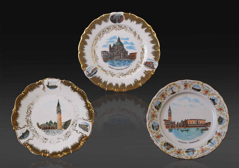 A set of three German, Tirschenreuth Bavaria souvenir wall display plates