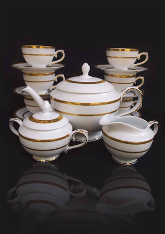 A fine Limoges Tea Service for six