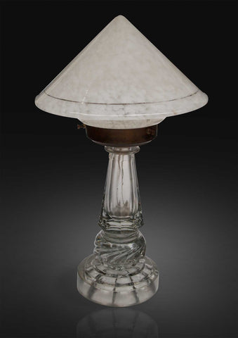 American marble glass dome table lamps