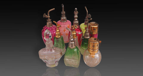 Assorted collection of perfume bottles