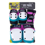 187 Killer Pads Adult Six Pack Set - Pink/Teal
